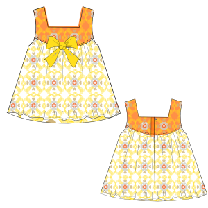 Browse through a offer of dress patterns Dress Cloque  0016 BABIES Dresses