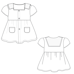 All our patterns have been tested and they are made for garments production Dress Cloque 0017 BABIES Dresses