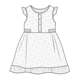 All our patterns have been tested and they are made for garments production Dress 0018 BABIES Dresses