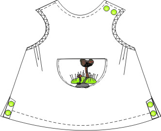 Browse our  sewing patterns Dress Gabardine 009 BABIES Dresses