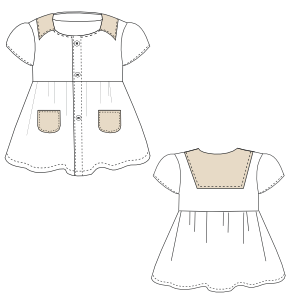 Browse our shop for sewing patterns Dress Cloque 0017 BABIES Dresses